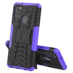 Чехол Yotrix Shockproof case для Samsung Galaxy A21s (фиолетовый, гелевый)