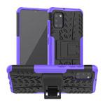 Чехол Yotrix Shockproof case для Samsung Galaxy A31 (фиолетовый, гелевый)