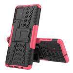 Чехол Yotrix Shockproof case для Samsung Galaxy A71 (розовый, гелевый)