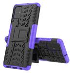 Чехол Yotrix Shockproof case для Samsung Galaxy A71 (фиолетовый, гелевый)