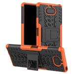 Чехол Yotrix Shockproof case для Sony Xperia 8 (оранжевый, гелевый)