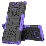 Чехол Yotrix Shockproof case для Sony Xperia 8 (фиолетовый, гелевый)