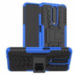 Чехол Yotrix Shockproof case для Xiaomi Poco X2 (синий, гелевый)