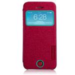 Чехол Momax Flip View для Apple iPhone 5C (красный, кожанный)