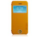 Чехол Momax Flip View для Apple iPhone 5C (желтый, кожанный)