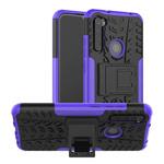 Чехол Yotrix Shockproof case для Xiaomi Redmi Note 8 (фиолетовый, гелевый)