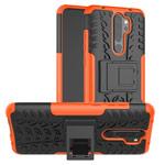 Чехол Yotrix Shockproof case для Xiaomi Redmi Note 8 pro (оранжевый, гелевый)