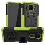 Чехол Yotrix Shockproof case для Xiaomi Redmi Note 9 (зеленый, гелевый)