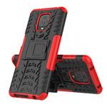 Чехол Yotrix Shockproof case для Xiaomi Redmi Note 9S/9 pro (красный, гелевый)