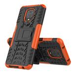 Чехол Yotrix Shockproof case для Xiaomi Redmi Note 9S/9 pro (оранжевый, гелевый)