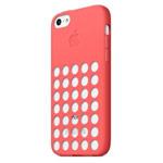 Чехол Apple iPhone 5C case (розовый, силиконовый)