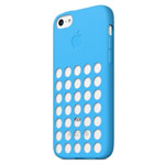 Чехол Apple iPhone 5C case (голубой, силиконовый)