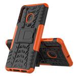 Чехол Yotrix Shockproof case для Samsung Galaxy A21 (оранжевый, гелевый)