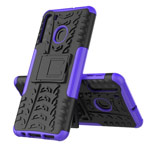 Чехол Yotrix Shockproof case для Samsung Galaxy A21 (фиолетовый, гелевый)