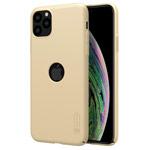 Чехол Nillkin Hard case для Apple iPhone 11 pro max (золотистый, с отверстием, пластиковый)