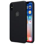 Чехол Nillkin Hard case для Apple iPhone X/XS (черный, с отверстием, пластиковый)
