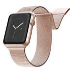 Ремешок для часов X-Doria Mesh Double Band для Apple Watch (42/44 мм, розово-золотистый, стальной)