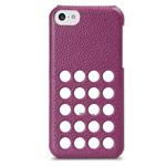 Чехол Melkco Snap Circle Dec Case для Apple iPhone 5C (фиолетовый, кожанный)