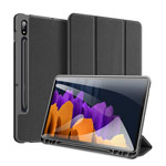 Чехол Dux Ducis Domo series для Samsung Galaxy Tab S7 (черный, матерчатый)