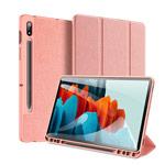 Чехол Dux Ducis Domo series для Samsung Galaxy Tab S7 plus (розовый, матерчатый)