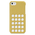 Чехол Melkco Snap Circle Dec Case для Apple iPhone 5C (желтый, кожанный)