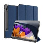 Чехол Dux Ducis Domo series для Samsung Galaxy Tab S7 plus (темно-синий, матерчатый)