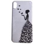 Чехол Yotrix ArtCase для Apple iPhone XS (Butterflies Girl, гелевый)