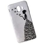 Чехол Yotrix ArtCase для Samsung Galaxy J4 (Butterflies Girl, гелевый)