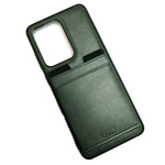 Чехол HDD Luxury Card Slot Case для Samsung Galaxy Note 20 (темно-зеленый, кожаный)