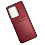 Чехол HDD Luxury Card Slot Case для Samsung Galaxy Note 20 ultra (красный, кожаный)