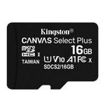 Флеш-карта Kingston Canvas Select Plus microSD (16Gb, microSD, Class 10 UHS-I)