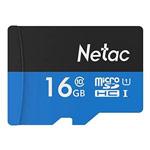 Флеш-карта Netac Memory Card microSD (16Gb, microSD, Class 10 U1, SD-адаптер)