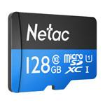Флеш-карта Netac Memory Card microSD (128Gb, microSD, Class 10 U1, SD-адаптер)