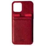 Чехол HDD Luxury Card Slot Case для Apple iPhone 12 pro max (красный, кожаный)