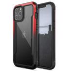 Чехол X-doria Defense Shield для Apple iPhone 12 pro max (красный/черный, маталлический)