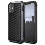 Чехол X-doria Defense Lux для Apple iPhone 12 mini (Black Carbon, маталлический)