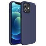 Чехол Yotrix LiquidSilicone для Apple iPhone 12 mini (темно-синий, гелевый)