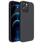 Чехол Yotrix LiquidSilicone для Apple iPhone 12 pro max (черный, гелевый)