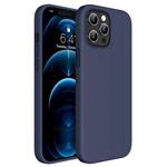 Чехол Yotrix LiquidSilicone для Apple iPhone 12 pro max (темно-синий, гелевый)