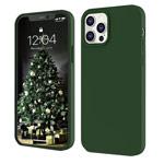 Чехол Yotrix LiquidSilicone для Apple iPhone 12 pro max (темно-зеленый, гелевый)