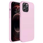 Чехол Yotrix LiquidSilicone для Apple iPhone 12 pro max (розовый, гелевый)