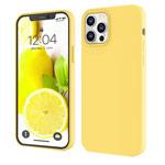 Чехол Yotrix LiquidSilicone для Apple iPhone 12 pro max (желтый, гелевый)