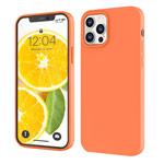 Чехол Yotrix LiquidSilicone для Apple iPhone 12 pro max (оранжевый, гелевый)