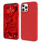 Чехол Yotrix LiquidSilicone для Apple iPhone 12/12 pro (красный, гелевый)