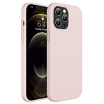 Чехол Yotrix LiquidSilicone для Apple iPhone 12/12 pro (пудра, гелевый)