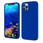 Чехол Yotrix LiquidSilicone для Apple iPhone 12/12 pro (синий, гелевый)