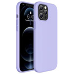 Чехол Yotrix LiquidSilicone для Apple iPhone 12/12 pro (сиреневый, гелевый)