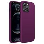 Чехол Yotrix LiquidSilicone для Apple iPhone 12/12 pro (фиолетовый, гелевый)