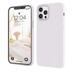 Чехол Yotrix LiquidSilicone для Apple iPhone 12/12 pro (белый, гелевый)