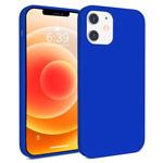 Чехол Yotrix LiquidSilicone для Apple iPhone 12 mini (синий, гелевый)